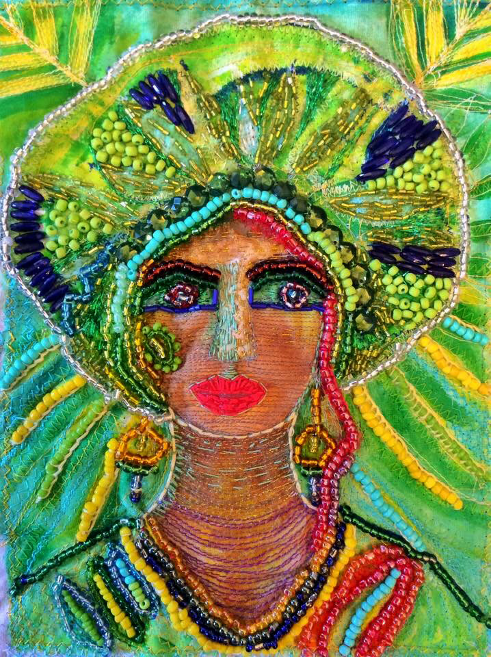 Lady in green turban