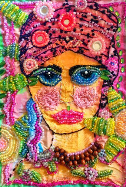 Lady in pink turban